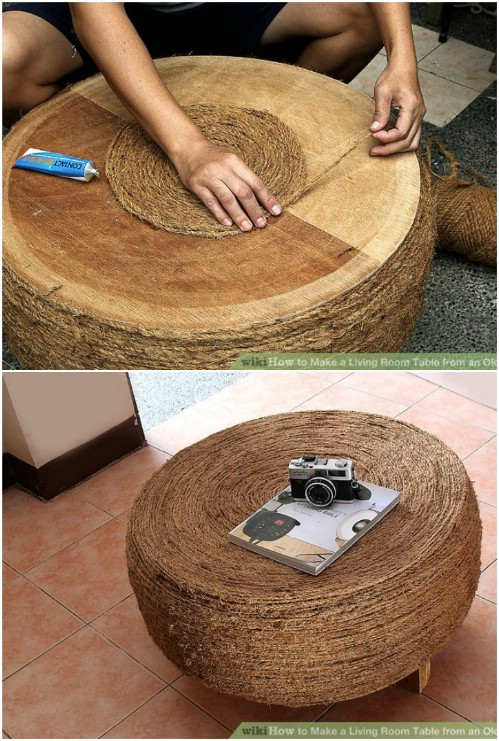 Upcycled Tire Table