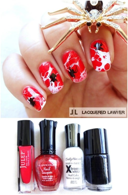 Splatter Web Nails