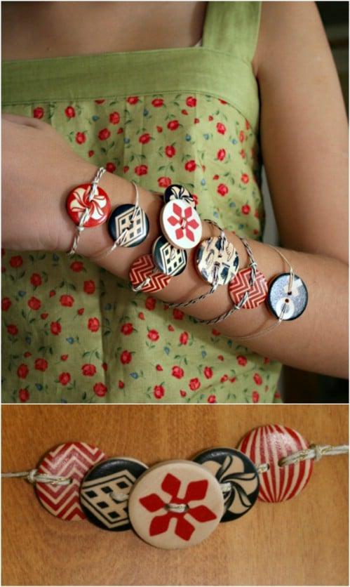 Twine Button Bracelets