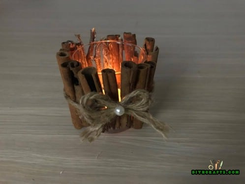 Cinnamon Stick Candleholder - Step 2