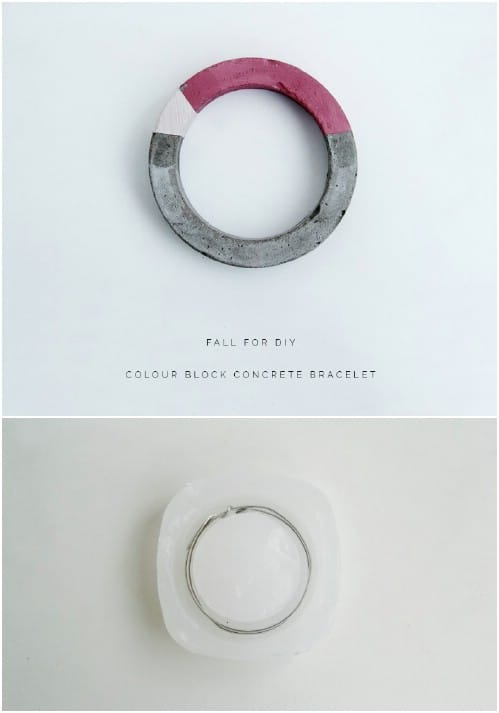 Gorgeous DIY Concrete Bracelets