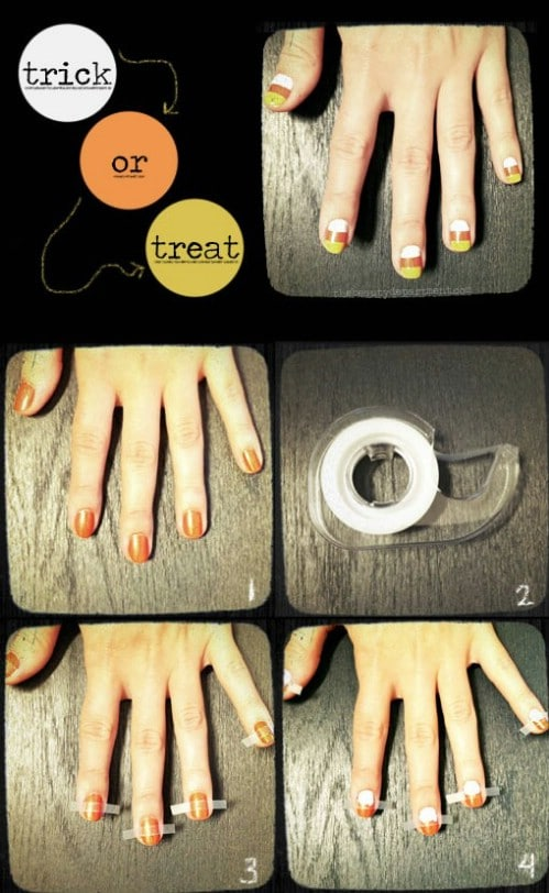 Adorable DIY Candy Corn Nails