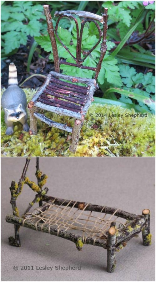 Adorable DIY Fairy Garden Furniture