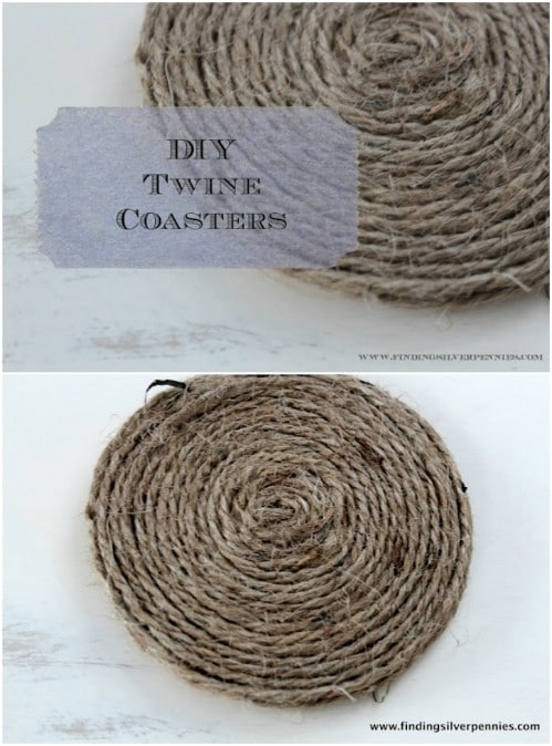 Easy DIY Twine Coasters