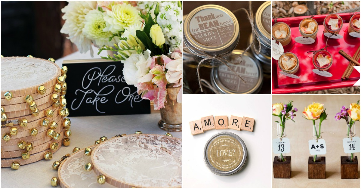 40 Frugal DIY Wedding Favors Your Guests Will Actually ...
