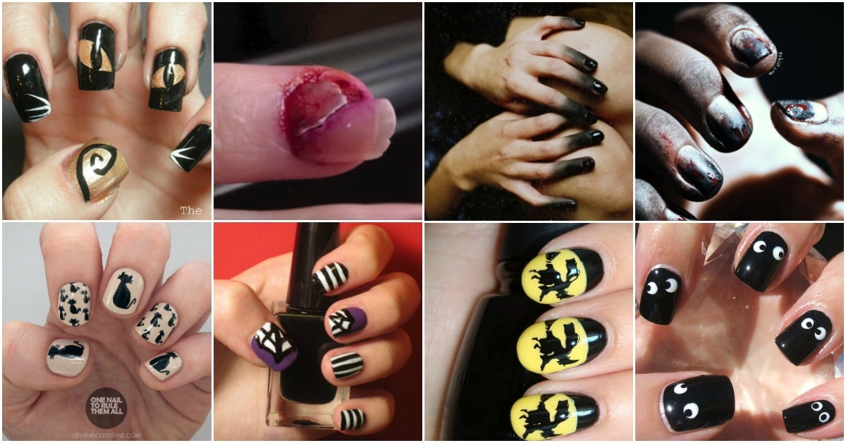 40 Frightening And Fun Halloween Nail Art Designs You Can Do Yourself Diy Crafts