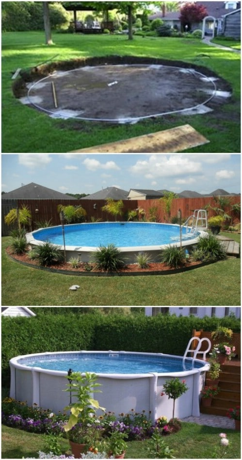 Surround Your Aboveground Pool with Beautiful Plants.