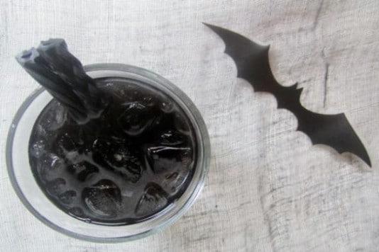 Bat Juice Halloween Mock Cocktail