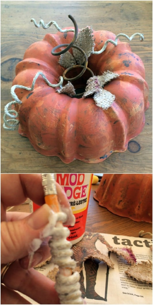 Upcycled Bundt Pan Pumpkins
