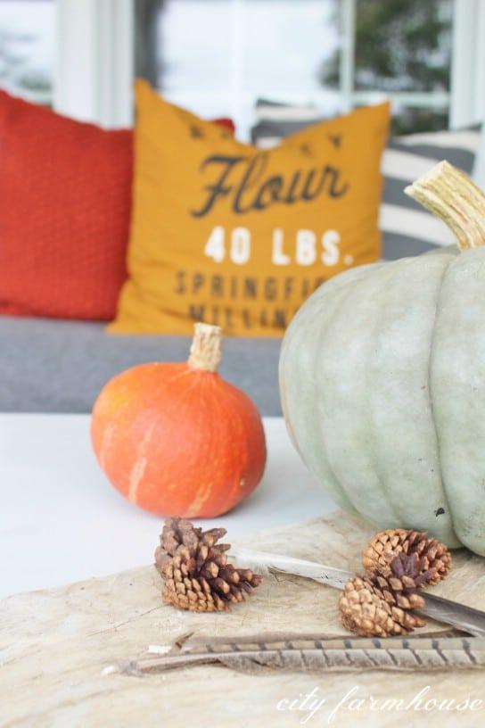 Simple Outdoor Fall Centerpiece