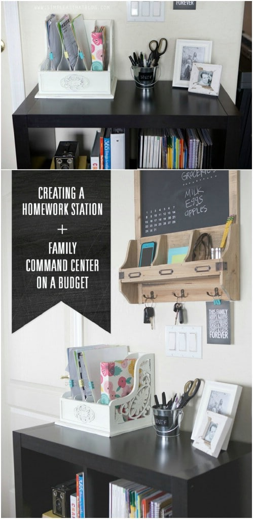 Create a budget-friendly family command center.
