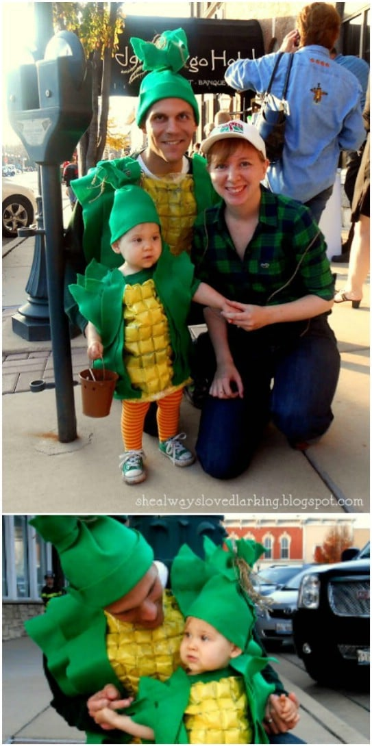 DIY Repurposed Corn On The Cob Family Costumes