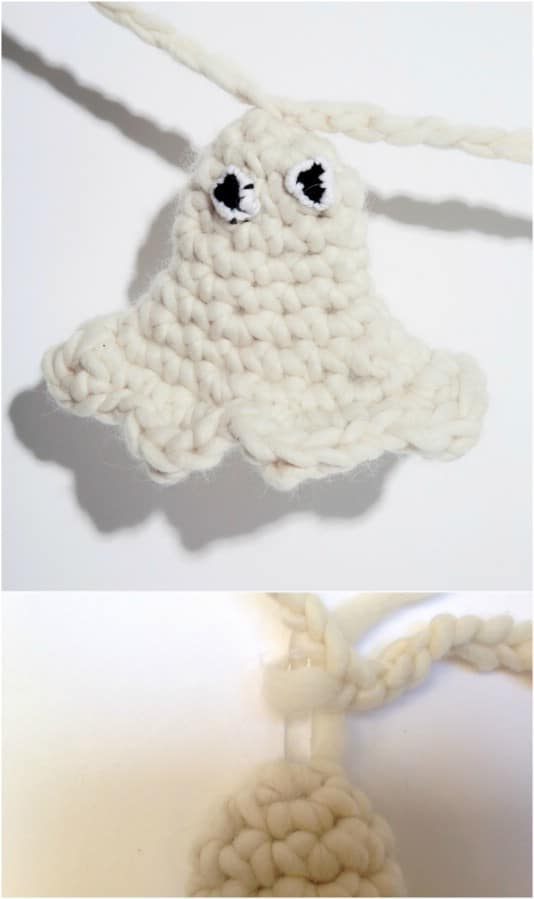 Quick And Easy Crochet Ghost Garland
