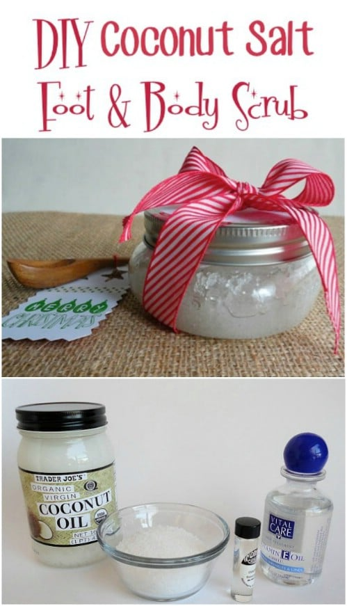 Homemade Coconut And Salt Foot Scrub