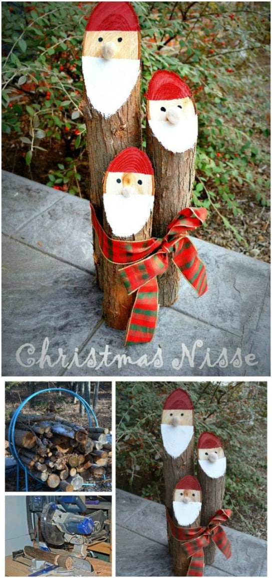Upcycled Santa Logs