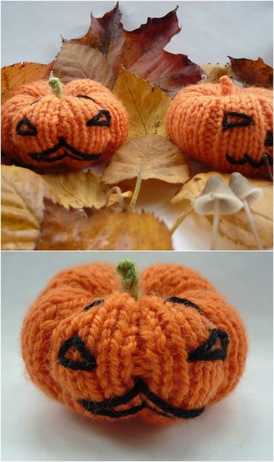 Cute Knit Halloween Pumpkins