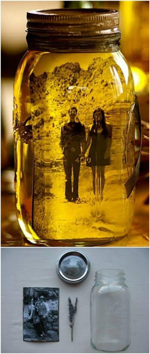 Decorative Mason Jar Photo Frames