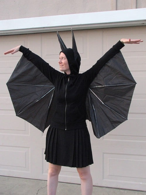 Cheap Umbrella Bat Costume