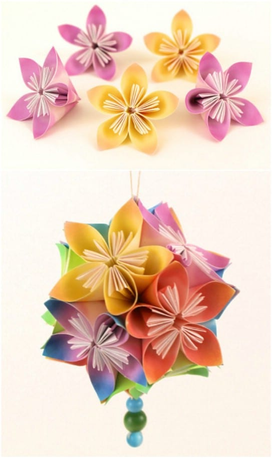 Japanese Kusudama Flowers