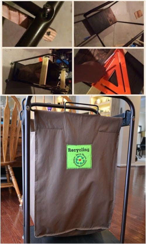 Repurposed Laundry Sorter Recycling Bin - 20 DIY Home Recycling Bins That Help You Organize Your Recyclables