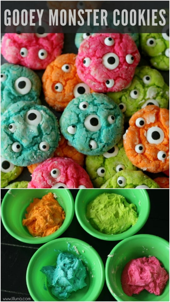Fun Gooey Monster Cookies