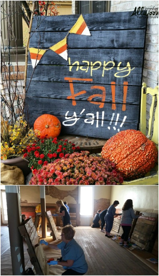 DIY Happy Fall Pallet Sign