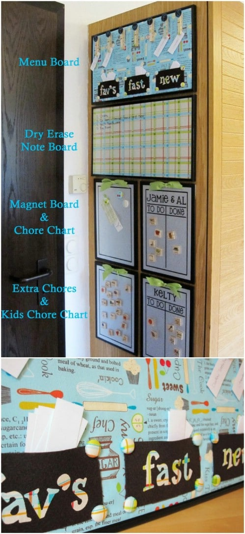 Use magnet boards and dry erase boards to get organized.