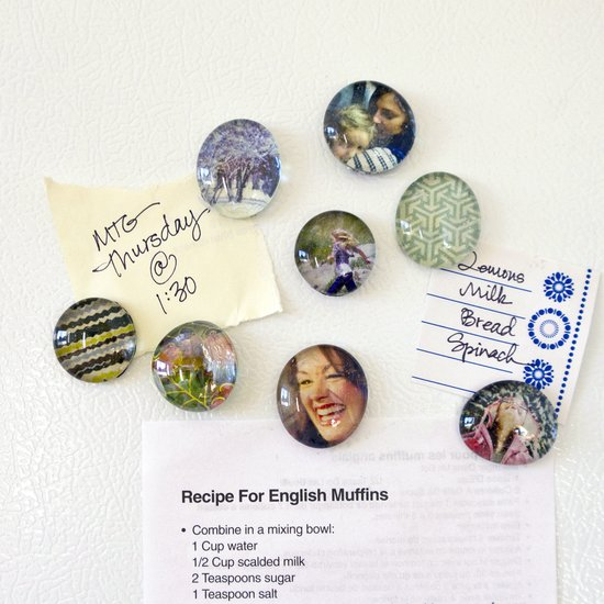 DIY Upcycled Calendar Magnets