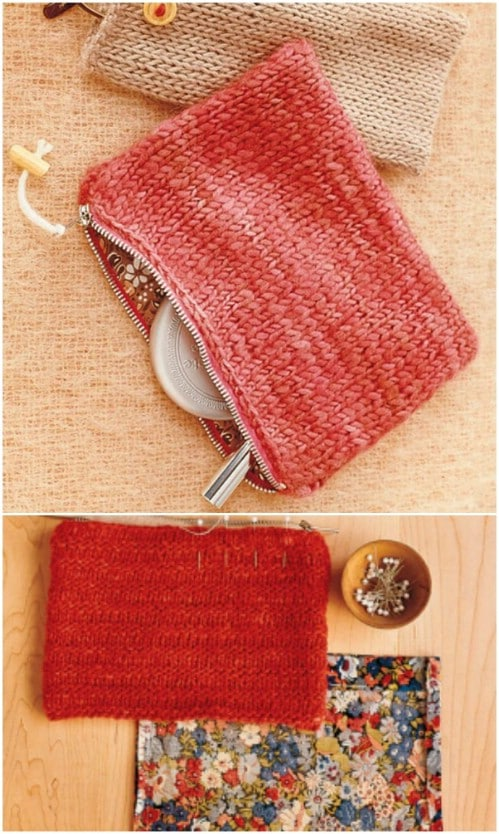 Easy Knit Pouches