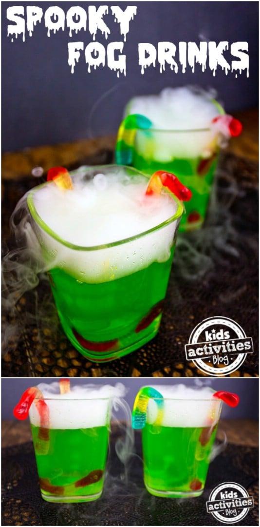Spooky Foggy Drinks