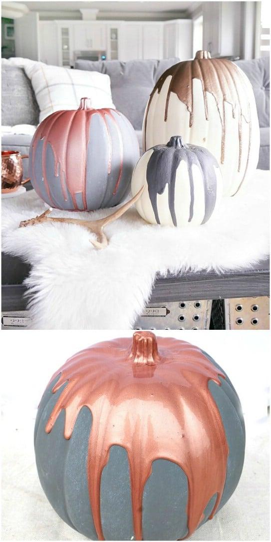 DIY Modern Metallic Pumpkins
