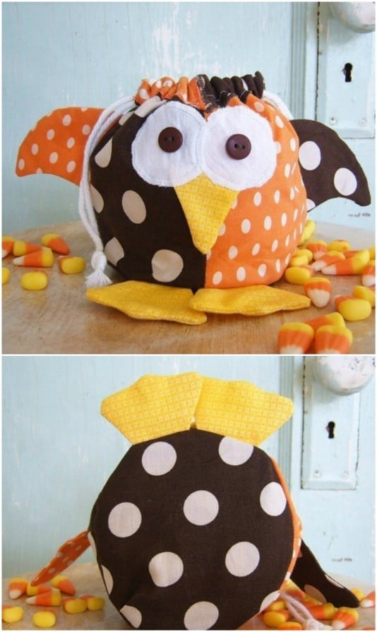 Jester Owl Halloween Treat Bag