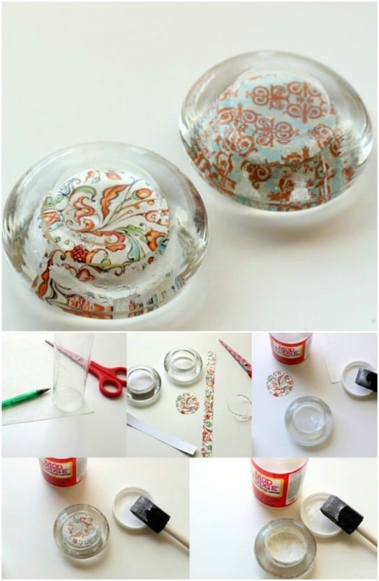 DIY Glass Paperweights