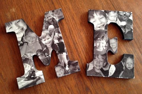 Decorative Photo Collage Letters