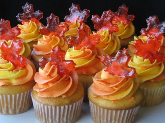 Easy Autumn Cupcakes