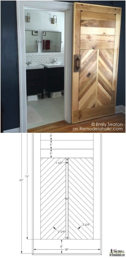 Another Beautiful Chevron Barn Door