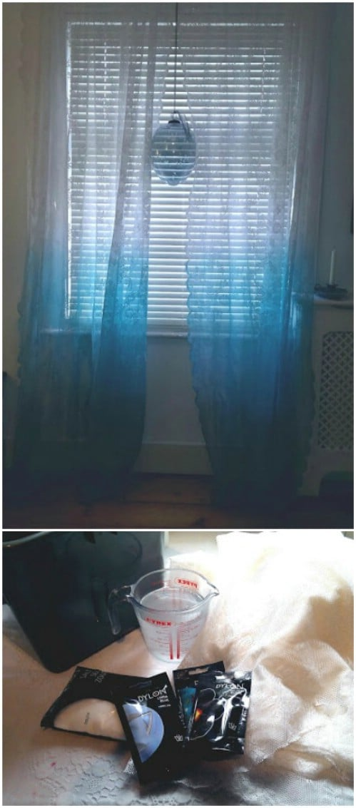 Dip-dye your curtains teal.