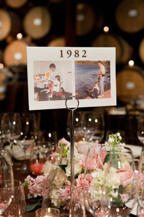 DIY Photo Table Name Displays