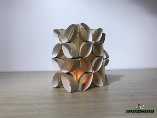 Candle Holder #2- 4 Fun and Decorative Paper Roll Crafts You Can Make in 3 Minutes