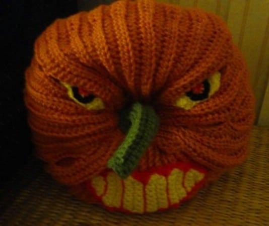 Super Scary Crochet Pumpkin