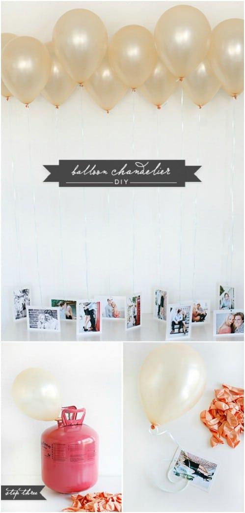Balloon Photo Chandelier