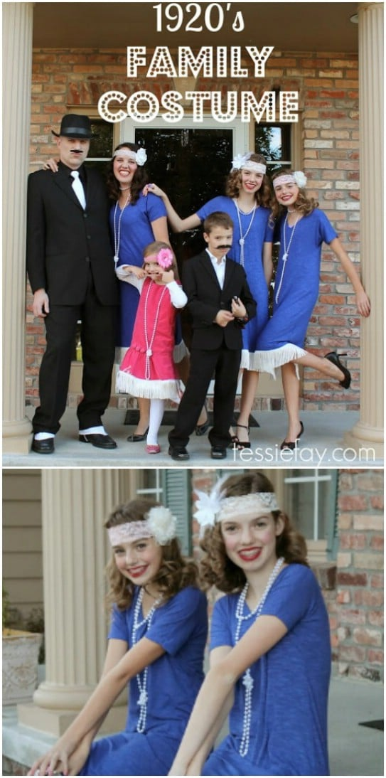 Easy DIY 1920's Family Costume