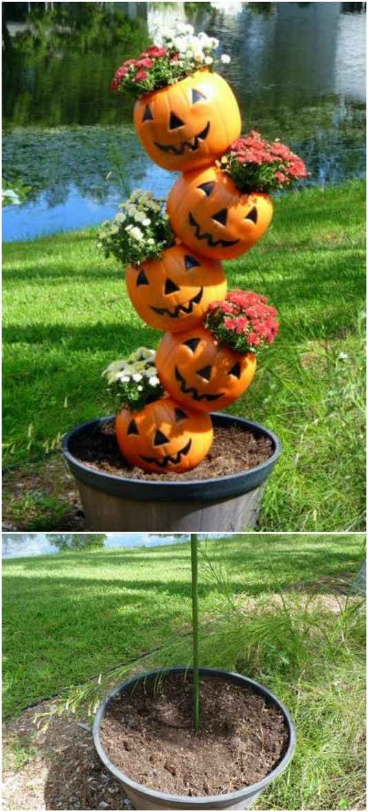 Adorable DIY Tipsy Pumpkins