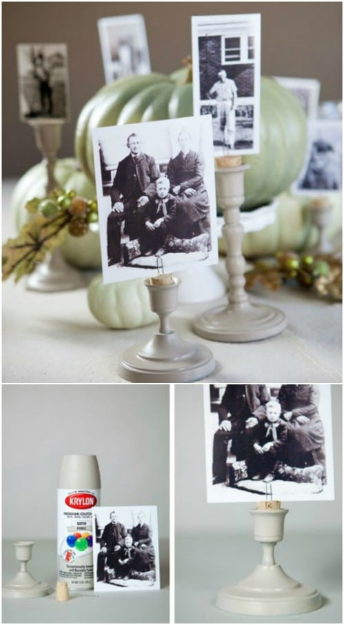 Photo Candlestick Centerpieces