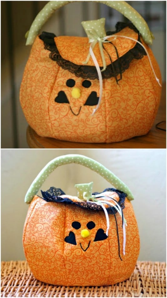 Easy DIY Pumpkin Trick-Or-Treat Tote