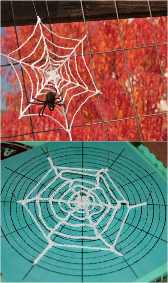 Easy Crochet Spider Web