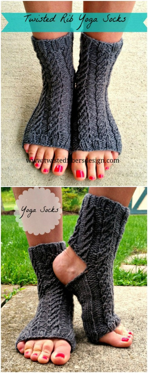 Ribbed Knit Yoga Socks