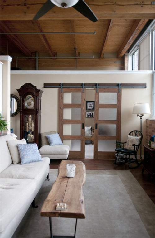 Factory Loft Barn Door Transformation