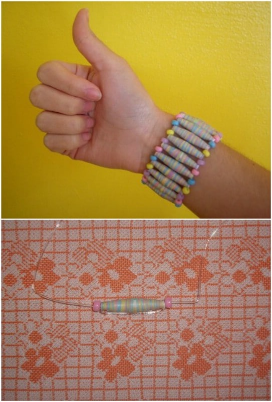Upcycled Calendar Paper Beads