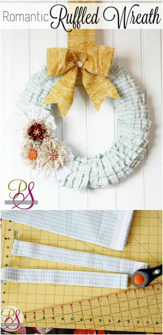 Romantic Ruffled Fall Wreath